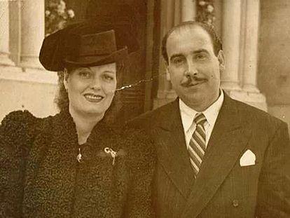 Ascensión Concheiro y Paco Comesaña Rendo en 1948. La imagen es cortesía de Marita Vázquez de la Cruz.