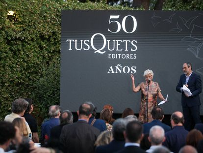 Beatriz de Moura, fundadora i presidenta d'honor de Tusquets Editors.