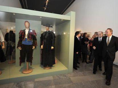 El presidente del Consell, Alberto Fabra, anoche en la inauguración de la exposición.