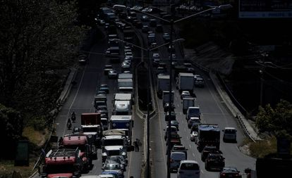 Una de las avenidas principales de San José, en Costa Rica.