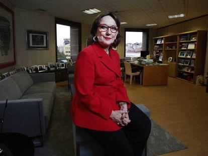 Rebeca Grynspan, secretaria general iberoamericana, en la sede de la institución en Madrid.