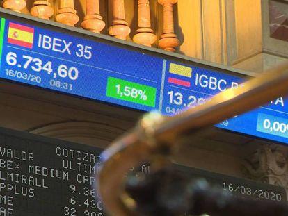 Bolsa de Madrid este martes.