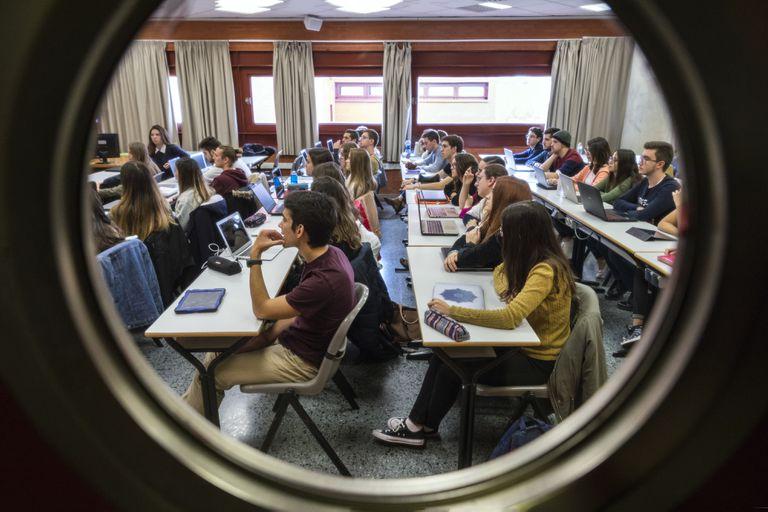 Estudiantes de la Universidad de Valencia.