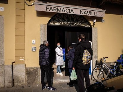 Una farmacia en el municipio italiano de Lodi.