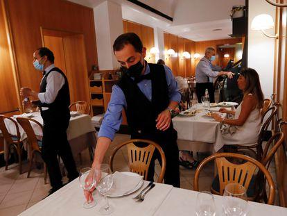 Un restaurante de Roma, este jueves.