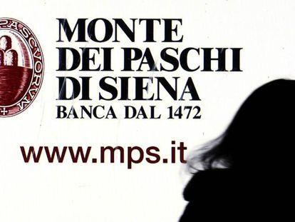 Una publicidad del Monte dei Paschi.