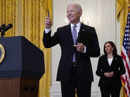 El presidente de EE UU, Joe Biden, y la vicepresidenta Kamala Harris.