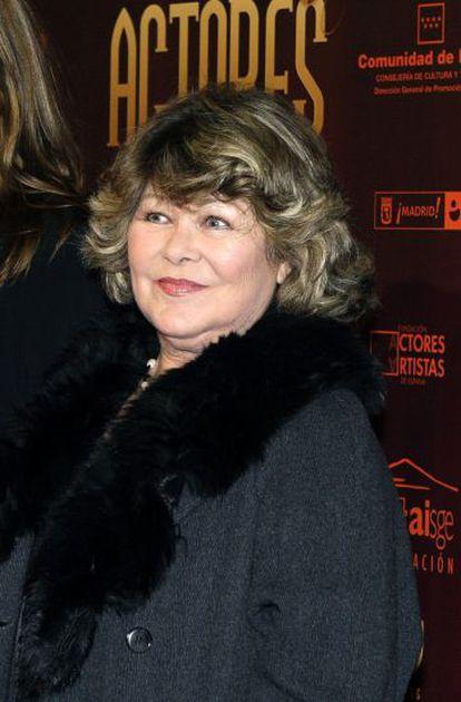 Fotografía de archivo, tomada en marzo de 2010, de la actriz Concha Goyanes.