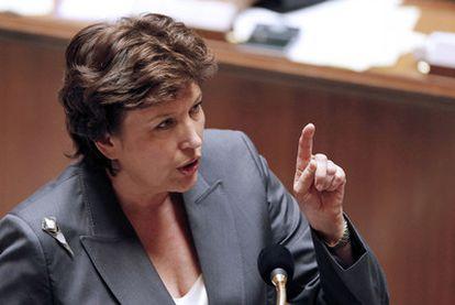 La ministra de Sanidad, Roselyne Bachelot, ayer en la Asamblea.