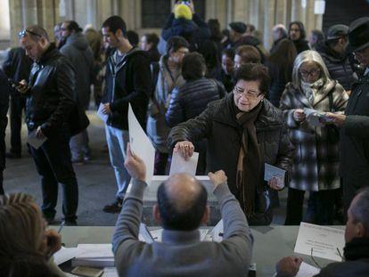 Jornada de votación en las elecciones autonómicas de Cataluña del 21-D.