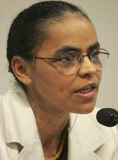 La senadora y ambientalista brasileña, Marina Silva