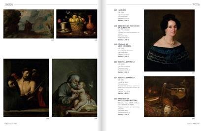Catálogo de la Casa Ansorena de Madrid en la que aparece el lote que iba a subastarse por 1.500 euros. El supuesto 'caravaggio', en la página de la izquierda, en la esquina inferior izquierda.