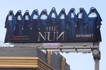 Poster for the movie 'The Nun', in Los Angeles, California.