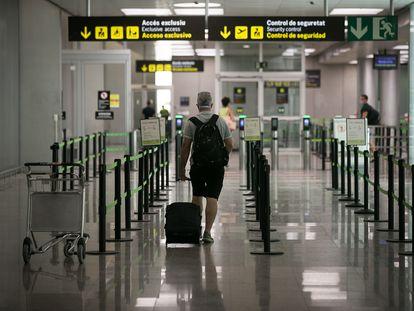 La terminal 2 del aeropuerto del Prat de Barcelona, en julio de 2020.