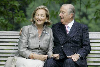 Paola y Alberto de Bélgica, en el Palacio Real de Laeken, en 2008.