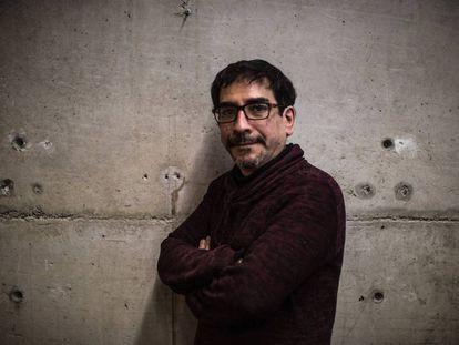 Fabrizio Mejía, en un momento de la entrevista.