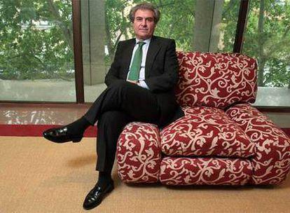 El ministro de Cultura, fotografiado el jueves en su despacho de la plaza del Rey.