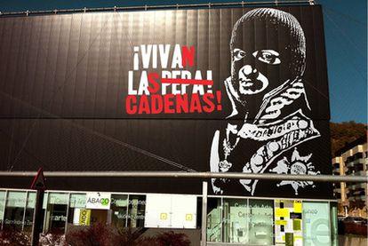 <i>¡Vivan las cadenas!,</i> de Noaz, que juega con la imagen de Fernando VII, en el centro Huarte de Navarra, programada por Acción Cultural Española.