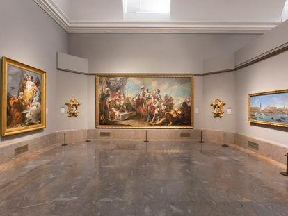 Panorámica de la sala 23 del edificio Villanueva, una de las afectadas por la reorganización de la colección del siglo XVIII.