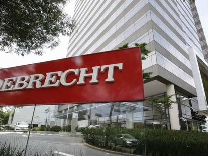 Fachada de la sede de la empresa Odebrecht, en São Paulo.
