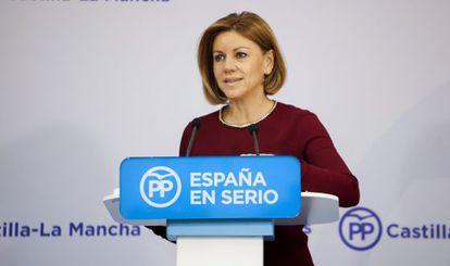 María Dolores de Cospedal en un acto, durante la campaña del 20D.