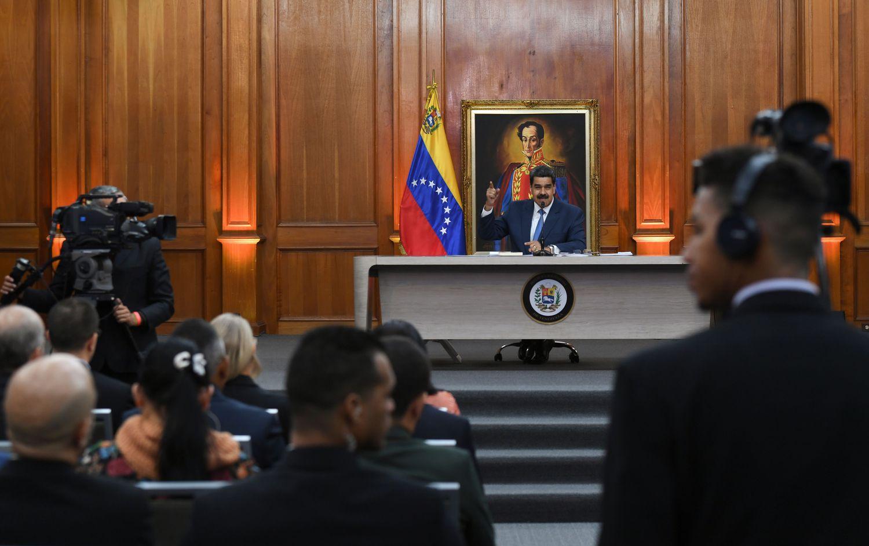 Nicolás Maduro, en una rueda de prensa el pasado mes de febrero.