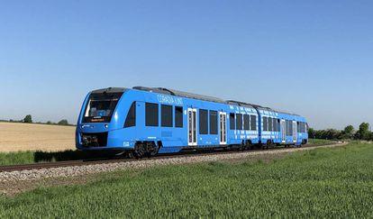 Tren de hidrógeno Coradia iLint desarrollado por el fabricante francés Alstom.