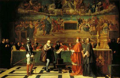 'Galileo Galilei ante la Inquisición', obra de Joseph Nicolas Robert-Fleury.