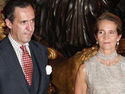 La infanta Elena y Jaime de Marichalar, en 2007.