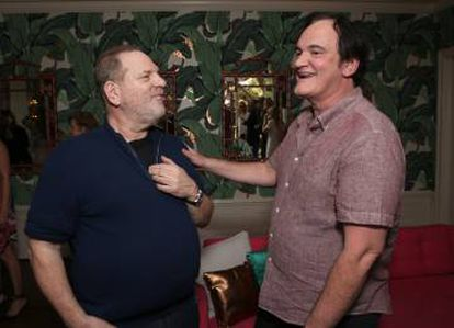 Harvey Weinstein and Quentin Tarantino during a party in Hollywood, California in 2016.