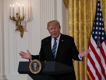 Donald Trump, este viernes, en la Casa Blanca.