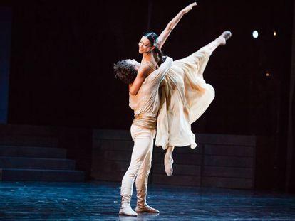 Elisa Carrillo, durante su interpretación de 'Romeo y Julieta'.