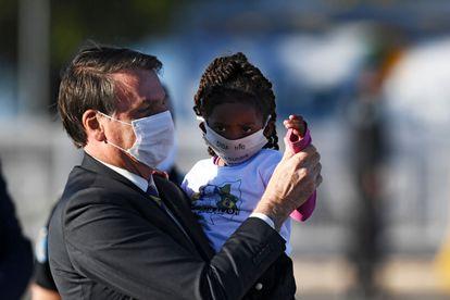 El presidente brasileño, Jaír Bolsonaro, en mayo pasado.