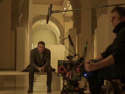 El actor Mario Casas, en un instante del rodaje de 'El inocente'.