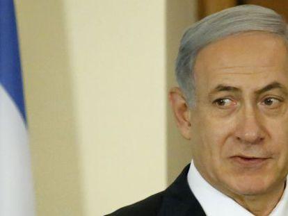 El primer ministro israelí, Benjamin Netanyahu, el martes en Nicosia (Chipre).