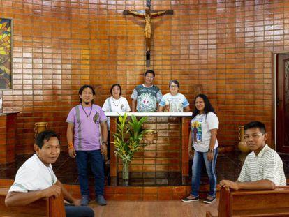 Fieles de la diócesis de São Gabriel da Cachoeira en septiembre en Manaos durante una asamblea previa al sínodo de la Amazonia.