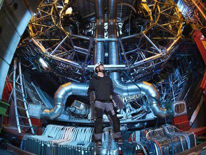 Uno de los detectores del LHC, en Ginebra (Suiza).