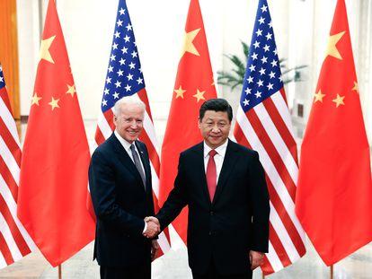 Joe Biden y Xi Jinping en una imagen de archivo.