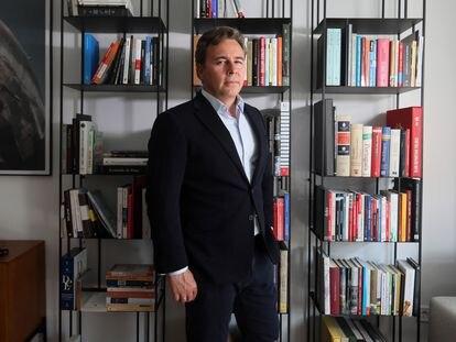 El empresario Dimas Gimeno, en su despacho de Madrid.