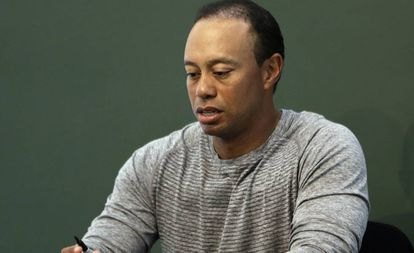 El jugador del golf Tiger Woods.