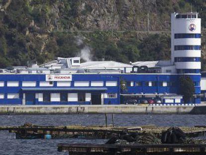 Sede principal de Pescanova en Chapela (Redondela), en la ría de Vigo.