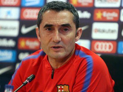 Valverde, en la sala de prensa.