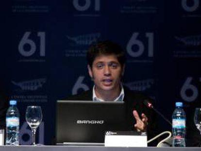 El ministro argentino de Economía, Axel Kicillof. EFE/Archivo