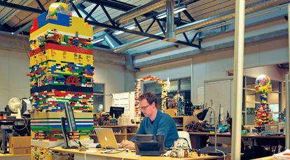Ambiente de trabajo en la sede de LEGO en Billund (Dinamarca).