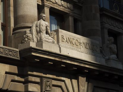 Fachada del Banco de México, en el centro de la capital mexicana. FOTO: Moisés Pablo/ Cuartoscuro