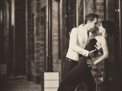 Bailarines de tango.