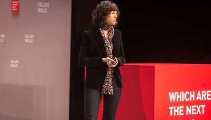 Emmanuelle Charpentier, durante la conferencia Falling Walls, en Berlín.