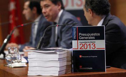 Presentación de los Presupuestos Generales 2013 de la Comunidad de Madrid