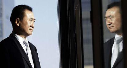 Wang Jianlin, presidente de la inmobiliaria china Wanda Group, en su oficina de Pekín.
