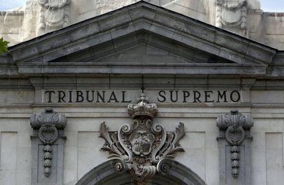 Fachada del Tribunal Supremo, en Madrid.